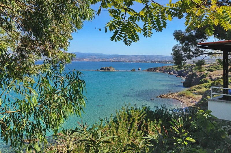 Blick auf das Meer im Großraum Paphos (Nähe Bad der Aphrodite) - Auswandern und Leben auf Zypern