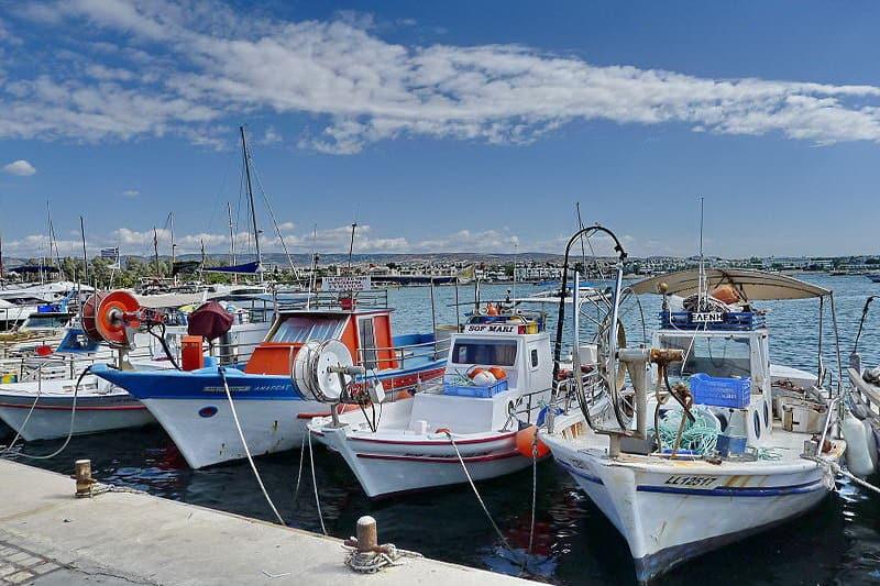 Hafen von Kato Paphos - Auswandern und Leben auf Zypern