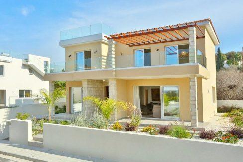 Immobilien auf Zypern: Neubau-Zypern Villa mit Meerblick in Chloraka im Raum Paphos zum Kauf - PFSB229